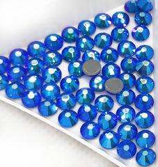 Купить оптом термостразы горячей фиксации Capri Blue AB синие