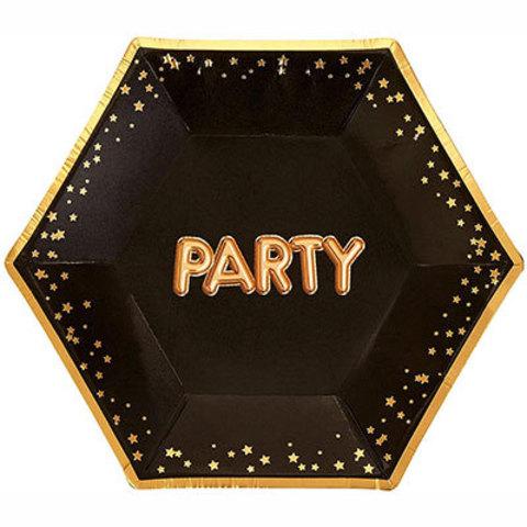 Тарелки малые Гламур Black&Gold PARTY
