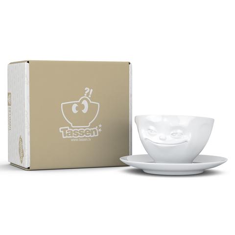 Чайная пара Tassen Grinning 200 мл белая