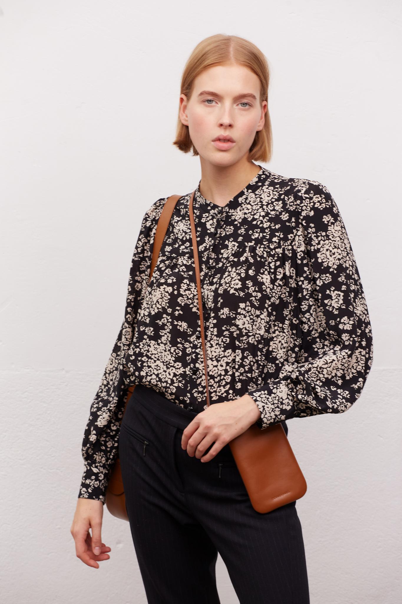 CALLIE - Струящаяся шелковая блуза