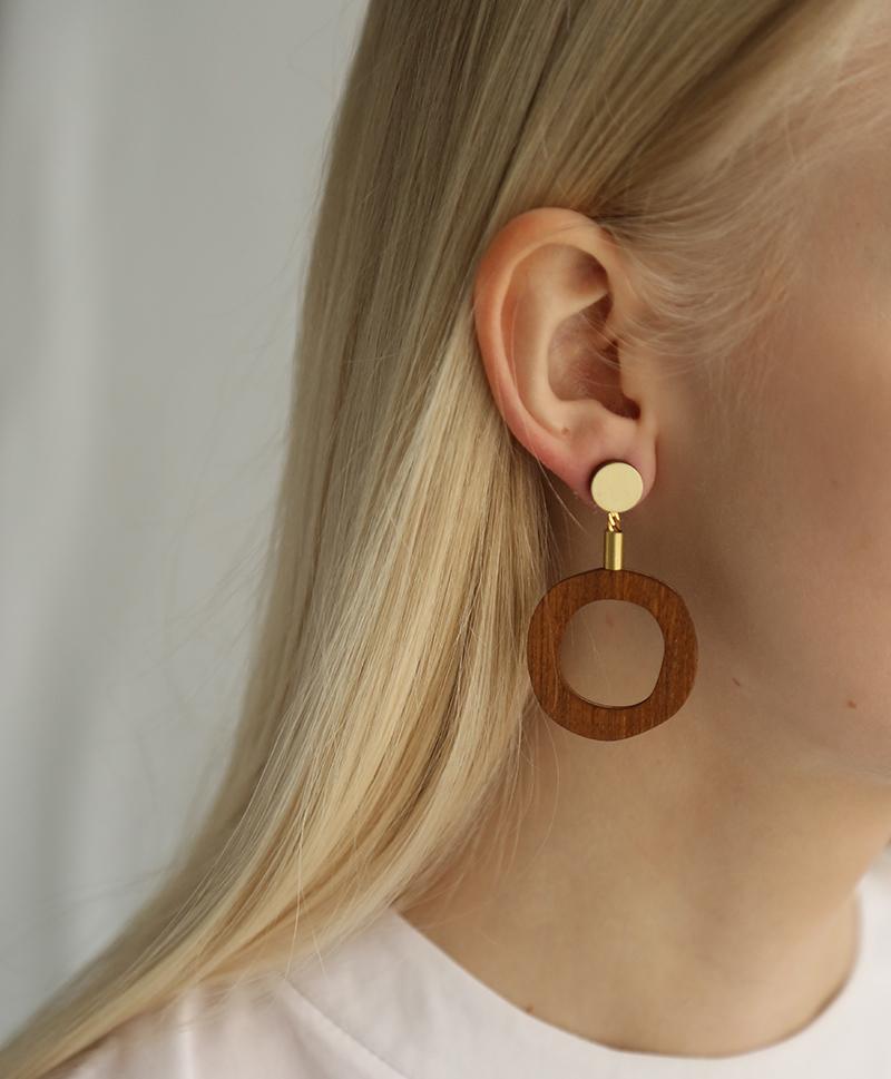 Серьги Jean I Earrings Wood