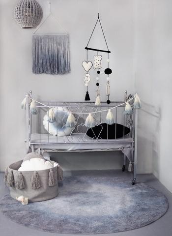 Корзина Lorena Canals Tassels Light Grey (30 x Ø45 см)