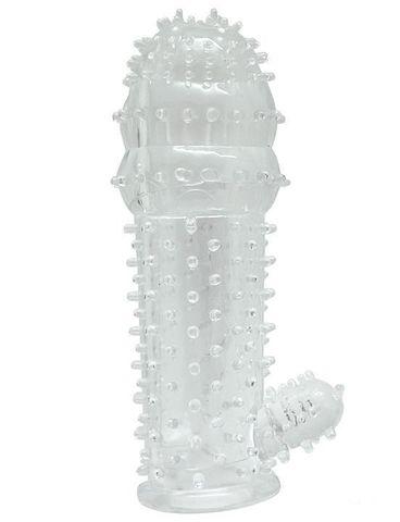 Прозрачная насадка с язычком - 12 см.