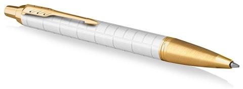 Ручка шариковая Parker IM Premium K318  Pearl GT M синие чернила, в подарочной коробке