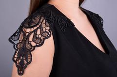 Эльмира. Стильное платье для женщин плюс сайз. Черный.