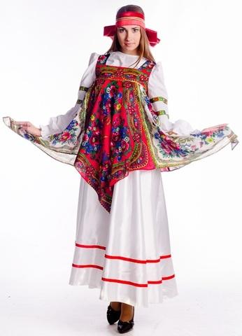 Русский народный костюм с платками