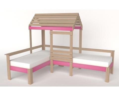 Кровать АВАРА-4 со стенкой и крышей правая
