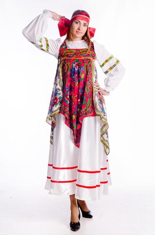 Русский народный костюм с платками 2