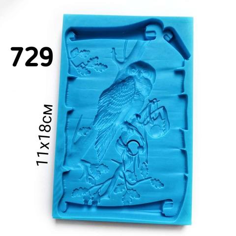 0729 Молд силиконовый Панно Сова (большое)