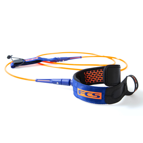 FCS 8' All Round Essential Leash Charcoal/Blood Orange
