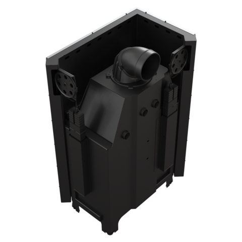 Каминная топка Kratki MBA/L/BS/G/SG (гнутое стекло) (17 кВт)