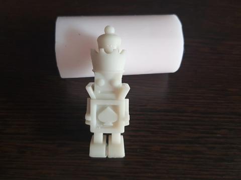 Силиконовый молд Робот 3 D большой
