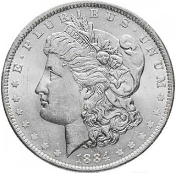"""Монета """"Доллар Моргана"""""""