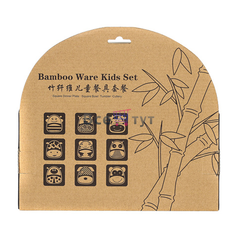Набор детской посуды из бамбука BAMBOO WARE KIDS SET (Пингвин)