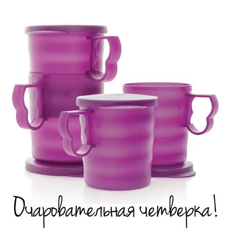 кружки очарование в фиолетовом цвете
