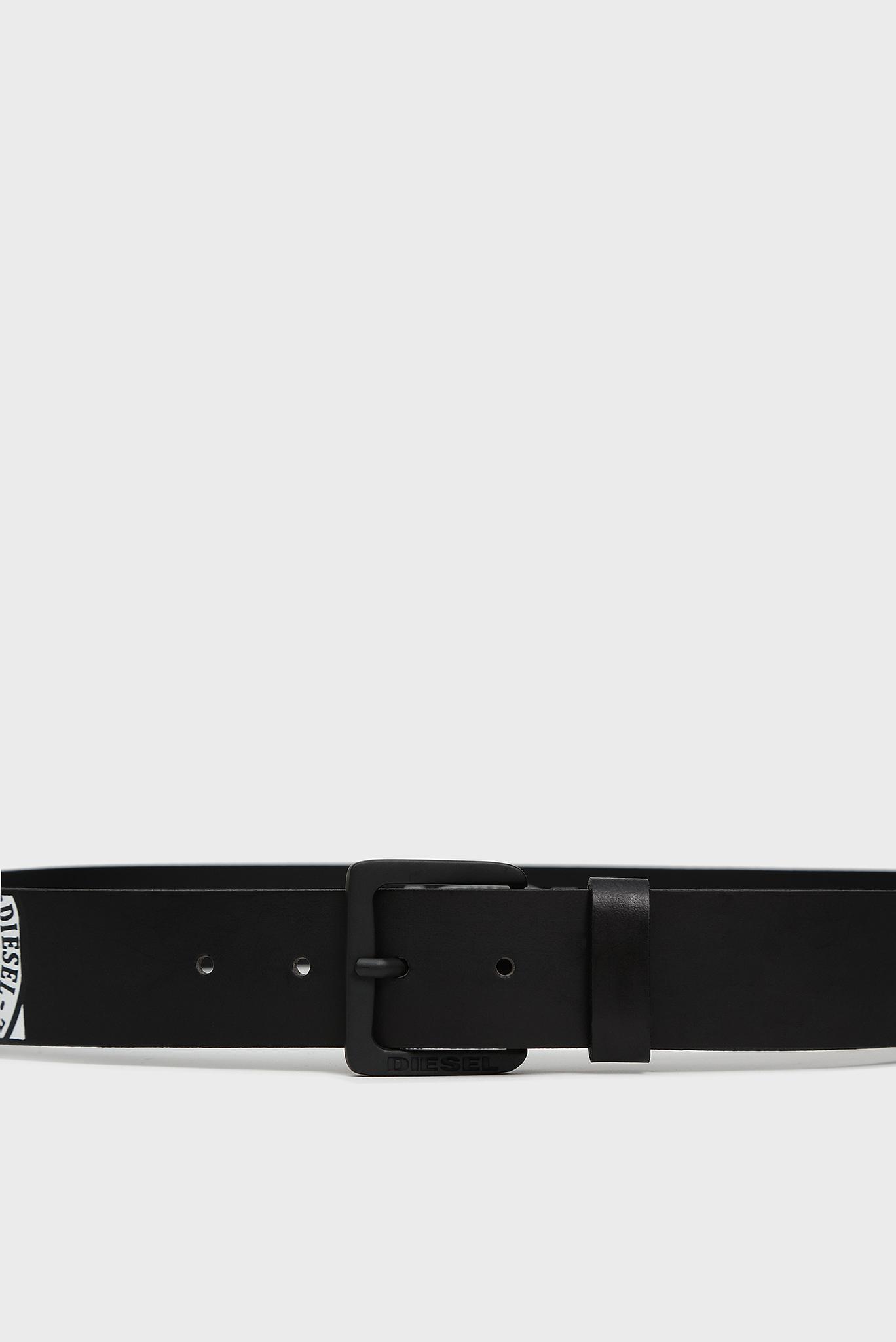 Мужской черный кожаный ремень B-MOICA Diesel