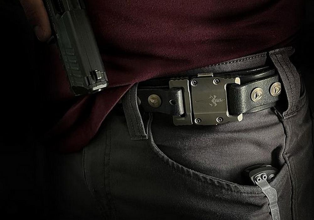 Ремень Marfione APIS Dark Brown Buffalo Titanium Bronzed - фотография