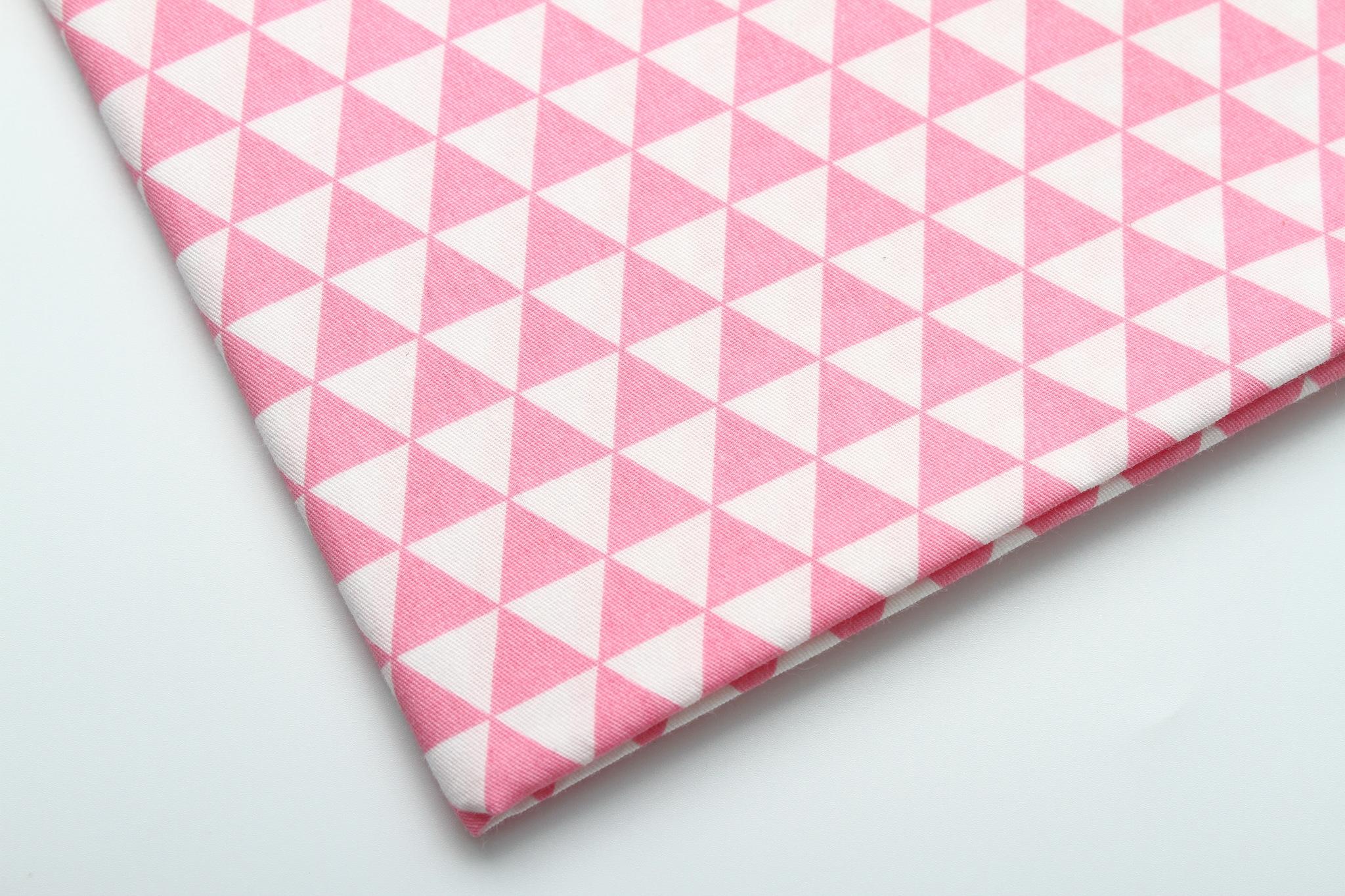 Треугольники розовые