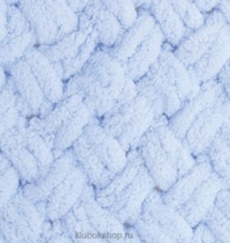 Пряжа Puffy Alize 183 Светло-голубой - толстая бархатистая пряжа для вязания руками. Купить в интернет-магазине недорого klubokshop.ru
