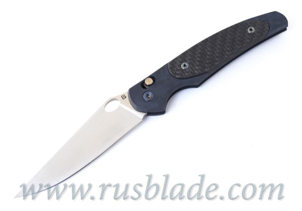 Cheburkov Axis Raven M390 Titanium CF Folding Knife