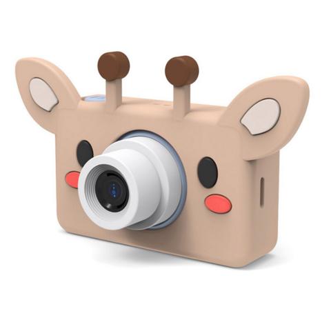Фотоаппарат детский SmileZoom 24 Мп  с чехлом с ушками / Жирафик