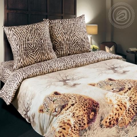 Комплект постельного белья Леопард DE LUXE