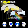 Очки солнцезащитные XQ515, (бело-красные / дымчатые) +3 доп. линзы