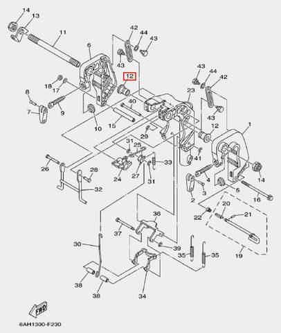 Втулка болта для лодочного мотора F20 Sea-PRO (19-12)