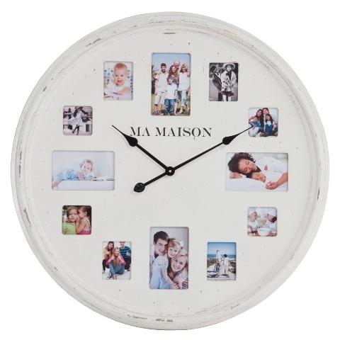 Часы настенные с фоторамками