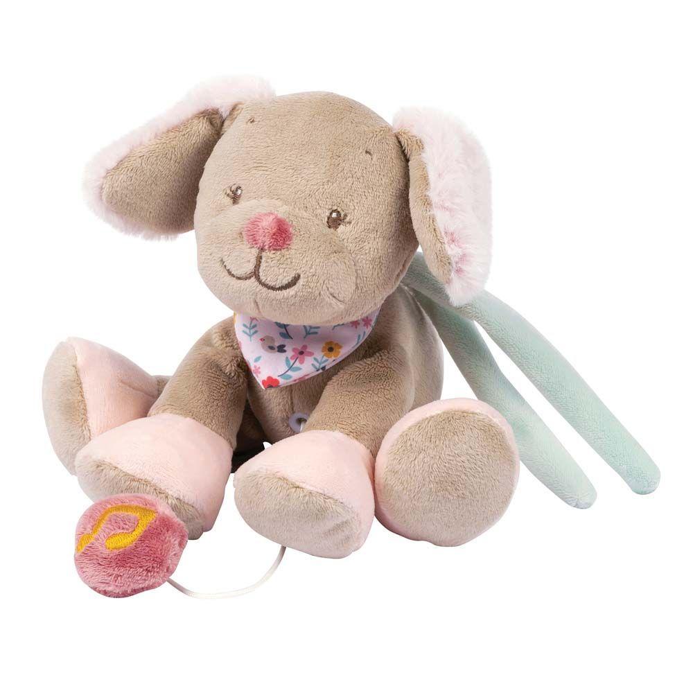 Игрушка мягкая Nattou Musical Soft toy (Наттоу Мьюзикал Софт Той) MINI Iris & Lali Собачка музыкальная 631082