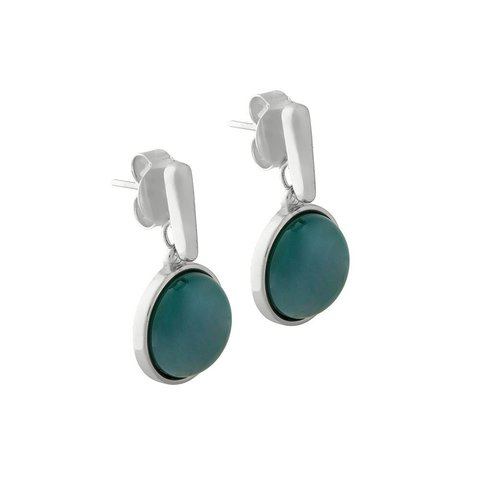 Серьги pearl green agate A1995.17 G/S