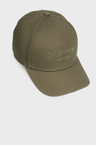 Мужская темно-зеленая кепка Calvin Klein