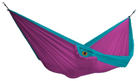 Картинка гамак туристический Ticket to the Moon compact hammock Pink - Turquoise - 1