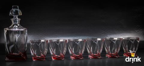 Набор для виски Quadro, красный