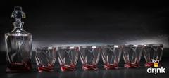 Набор для виски Quadro, красный, фото 1