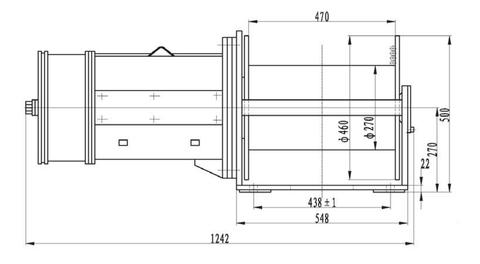 Компактная электрическая лебедка IDJ23-40-120-15.5 (30)