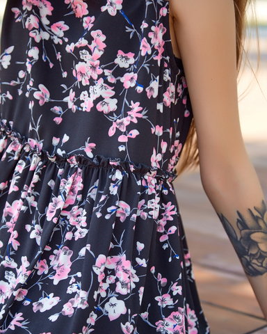 платье черное креп недорого