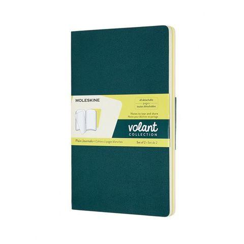 Блокнот Moleskine VOLANT QP723K31M20 Large 130х210мм 96стр. нелинованный мягкая обложка зеленый/желтый цитрон (2шт)