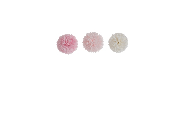 Подвесной цветочный шар розовый/светло-розовый/белый в ассортименте мини