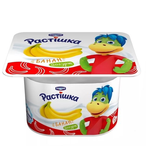 Йогурт РАСТИШКА Банан 3% 4*100 г Danone КАЗАХСТАН