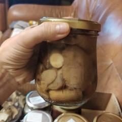 Подосиновики соленые резанные