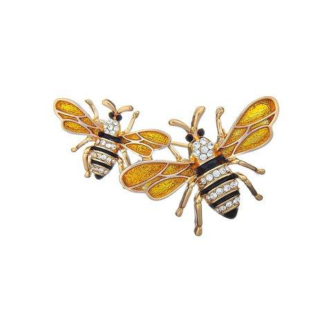 Брошь Пчелы FAN-07439.13 BR/RG