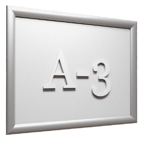 Рамка А3 Attache, алюм.клик-профиль 25 мм, настенная