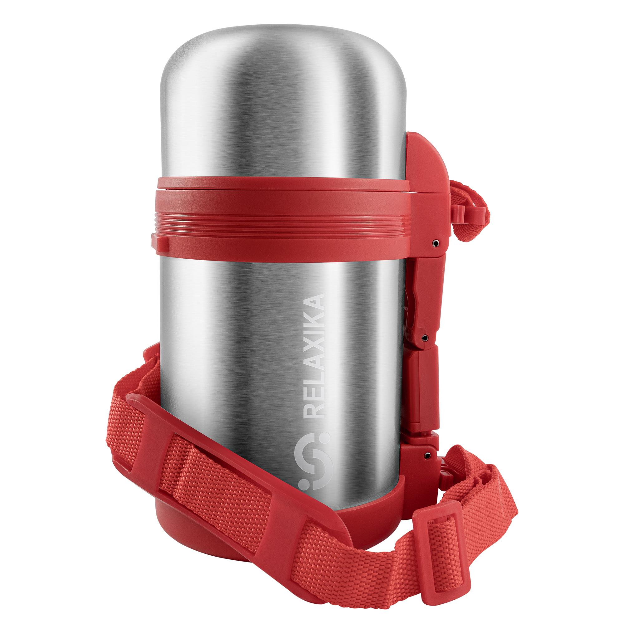Термос универсальный (для еды и напитков) Relaxika 201 (0,8 литра), стальной