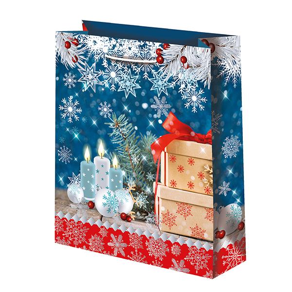 Новогодний подарочный пакет Подарки (средний)