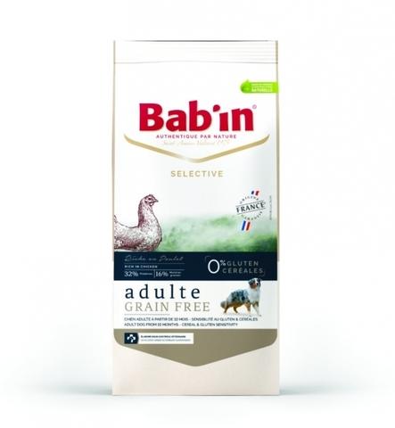 SELECTIVE ADULTE GRAIN FREE POULET (для взрослых собак всех пород от 10 мес, 0% глютена и злаков, на основе курицы форели, гранулы 16-18 мм, 32/16) 3 кг