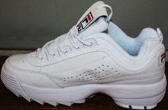 Самые модные кроссовки Fila Disruptor 2 all white RN-91175