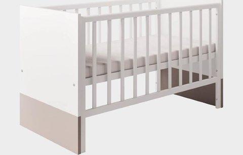 Кроватка детская Polini kids Classic 140х70см, белый снег - макиато