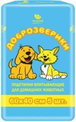Подстилки для животных Доброзверики Экономичная упаковка