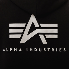 Толстовка Alpha Industries Small Logo Hoodie (Черная)